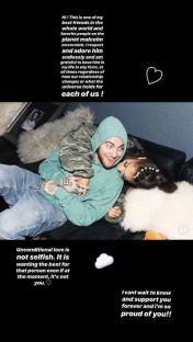 Story do Instagram de Ariana sobre o término | Foto: Divulgação