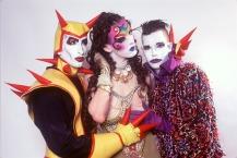 Keda, Kabuki Starshine e Sacred em 1993 (Foto: Michael Fazakerley)